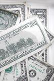 Beaucoup de billets de banque des dollars Images libres de droits