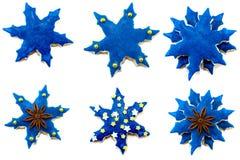 Beaucoup de biscuits bleus délicieux l'un à côté de l'autre Photo libre de droits