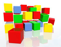 Beaucoup de blocs colorés Images stock