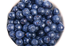 Beaucoup de blueberrys Photos stock