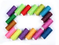 Beaucoup de bobines colorées intéressantes Images libres de droits