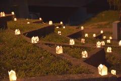 Beaucoup de bougies Image stock