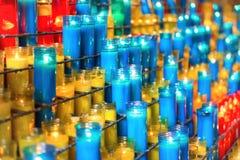Beaucoup de bougies colorées Photos libres de droits