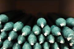 Beaucoup de bougies vertes photos stock