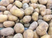 Beaucoup de boules de pomme de terre, vue supérieure au tas des pommes de terre se trouvant, Ubonrat Image libre de droits