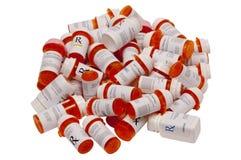 Beaucoup de bouteilles de prescription Photos libres de droits