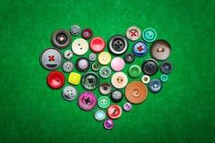 Beaucoup de boutons colorés Photo libre de droits