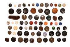 Beaucoup de boutons d'isolement Image stock