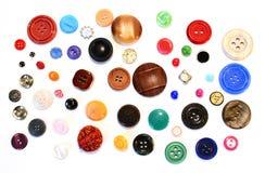 Beaucoup de boutons diffirent Photo libre de droits