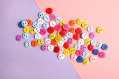 Beaucoup de boutons multicolores Images stock