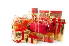 Beaucoup de cadeaux de Noël Photo libre de droits