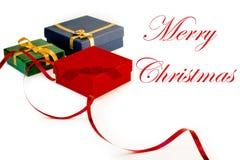 Beaucoup de cadeaux pour Noël Images stock