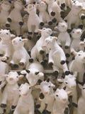 Beaucoup de chèvres drôles comme symbole de nouvel 2015 ans Photos libres de droits