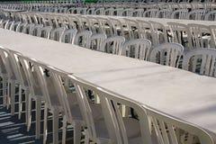 Beaucoup de chaises au festival Photo stock