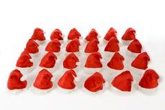 Beaucoup de chapeaux de Noël Images libres de droits