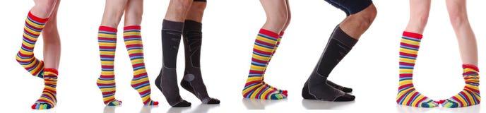 beaucoup de chaussettes Photographie stock libre de droits