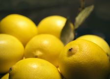 Beaucoup de citrons jaunes Image libre de droits