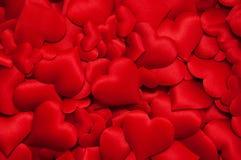 Beaucoup de coeurs rouges Image libre de droits