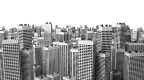 Beaucoup de constructions modernes image stock