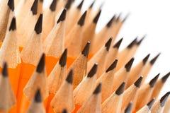 Beaucoup de crayons en bois photographie stock