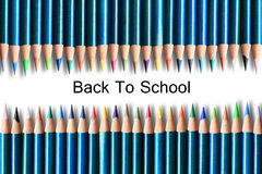 Beaucoup de crayons en bois colorés Photos stock