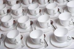 Beaucoup de cuvettes de thé Photographie stock libre de droits