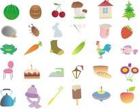 Beaucoup de de petits sujets et animaux Illustration de Vecteur