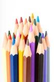 Beaucoup de différents crayons colorés Images libres de droits