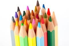 Beaucoup de différents crayons colorés Photographie stock libre de droits