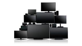 Beaucoup de différents types d'écrans Photo libre de droits