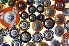 Beaucoup de diverses batteries Photographie stock libre de droits