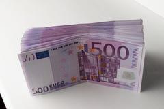 Beaucoup de 500 euro billets de banque Devise d'UE Photographie stock
