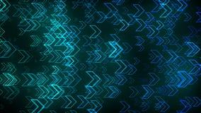 Beaucoup de flèches dans l'espace, technologie abstraite, affaires, communiquent le fond, 3d rendent le contexte illustration de vecteur