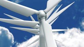 Beaucoup de générateurs d'énergie éolienne sur le fond de ciel Photos stock