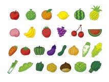 Beaucoup de légumes fruits Images libres de droits