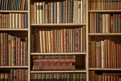 Beaucoup de livres Photos stock