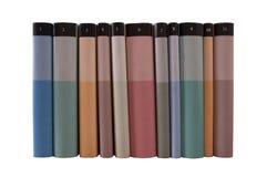 Beaucoup de livres colorés dans une ligne Image libre de droits