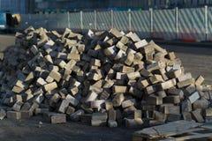 Beaucoup de machines à paver démantelées Moscou Photos stock
