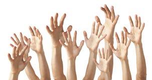 Beaucoup de mains images libres de droits