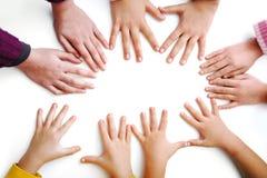 Beaucoup de mains d'enfants Image libre de droits