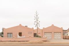 Beaucoup de maisons dans la baie de Henties ont personnalisé des noms photos stock