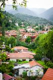 Beaucoup de maisons de village photos libres de droits