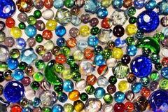 Beaucoup de marbres en verre colorés Photos libres de droits