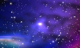 Beaucoup de nébuleuses et d'étoiles dans la galaxie illustration libre de droits