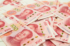 beaucoup de 100 notes chinoises de yuans de RMB Image stock