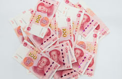beaucoup de 100 notes chinoises de yuans de RMB Photographie stock