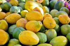 Beaucoup de papayes Photographie stock libre de droits