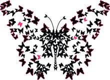 Beaucoup de papillons avec l'illustration d'art d'effet de Lorenz Photo stock