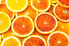 Beaucoup de parts d'orange images libres de droits