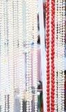 Beaucoup de perles des perles et des coraux. Plan rapproché. Photos libres de droits